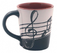 Music Notes Latte Mug Mugs
